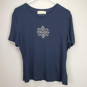 St John Black Jewelled Tshirt